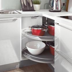 Eckunterschrank mit Karrussell - ideal für Kleine Küche und Kochnische