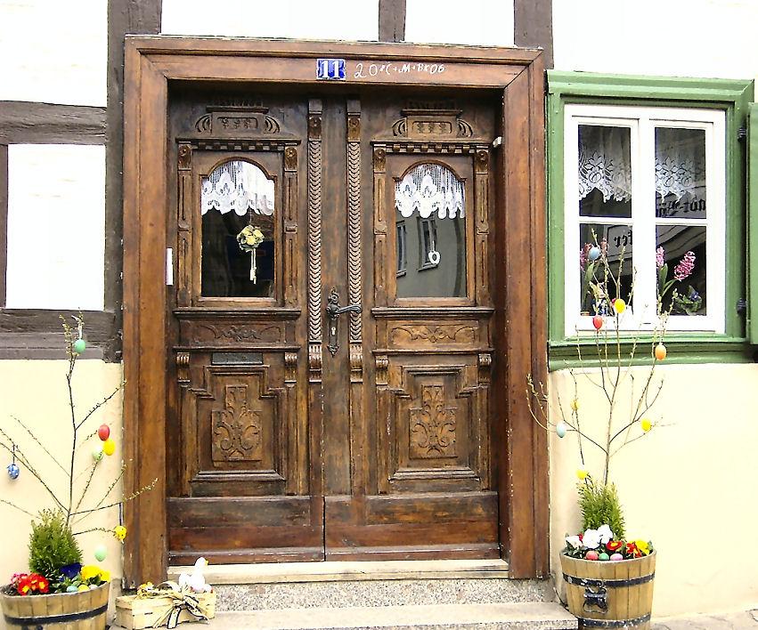 Alte schöne Haustür