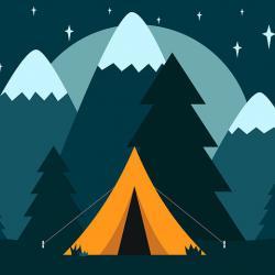 Warum in die Ferne schweifen - zelten unterm Sternenhimmel