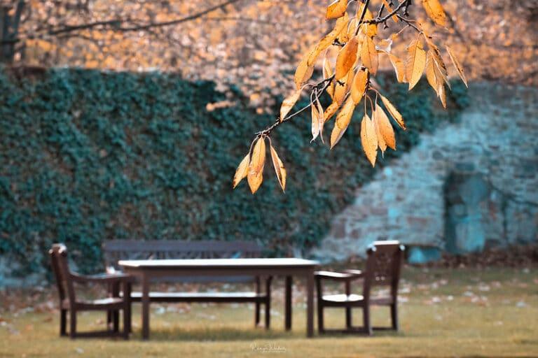 Gartenarbeit im Herbst - und Ruhe